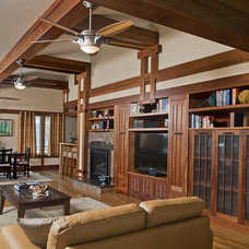 Craftsman Family Room by Raphael Architects