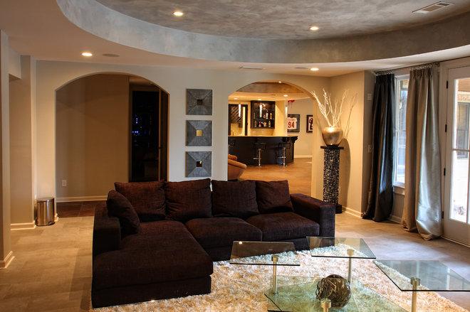 Modern Family Room by Le Bam Studio/MB Design