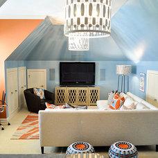 Contemporary Family Room by evaru design