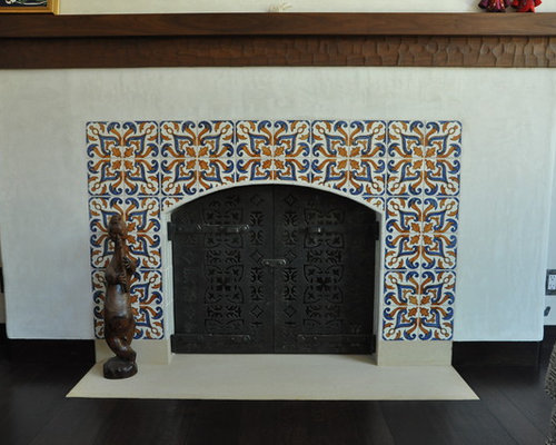 Spanish Tile Fireplace Ideas Pictures Remodel And Decor