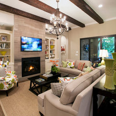 traditional family room by Ashton Woods Homes- Raleigh