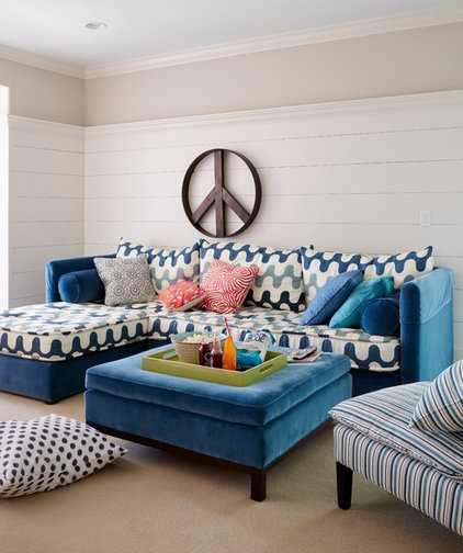 Beach Style Family Room by Andrew Howard Interior Design