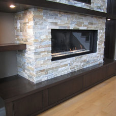 Contemporary Family Room by JWS Woodworking and Design Inc.