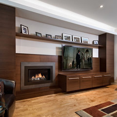 contemporary media room by Design First Interiors