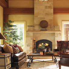 traditional family room by Barbara Schaver @ Furnitureland South