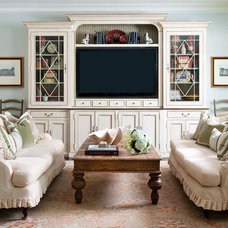 Traditional Family Room by M. Barnes & Co