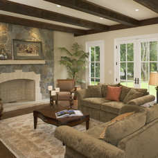Traditional Family Room by Gallagher Homburg & Gonzalez Architects PLLC