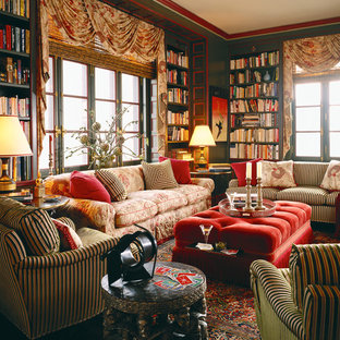 Example of an eclectic family room design in Chicago