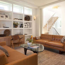 modern family room by Charlie & Co. Design, Ltd