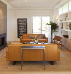 modern family room by Charlie Simmons - Charlie & Co. Design, Ltd.