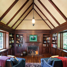Traditional Family Room by KuDa Photography