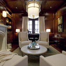 Transitional Family Room by Margaret L. Norcott, Allied ASID
