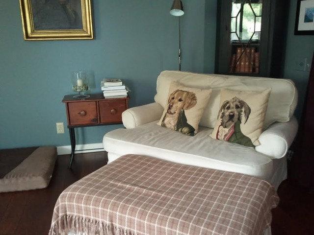 Midcentury Family Room Library / Multi-Purpose Room
