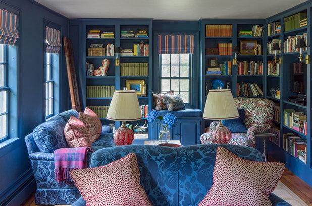Traditional Family Room by Hamilburg Interiors