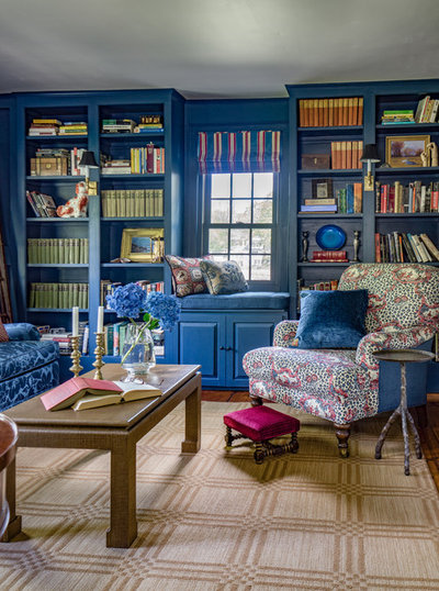 Eclectic Family Room by Hamilburg Interiors