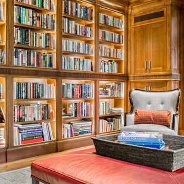 Library - Needham Custom Home - 01