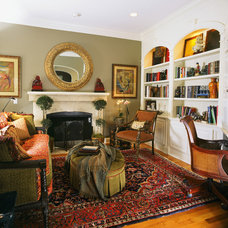 Eclectic Family Room by Sandy Crawford, Interior Designer