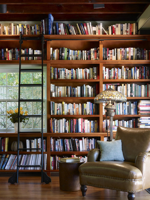 Library Bookshelves Ladder – Library Bookcase with Ladder