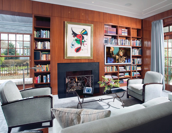 Contemporary Family Room by Electronics Design Group, Inc.