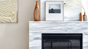 Light and Bright Fireplace