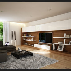 Modern Family Room by A.D.I. Electric