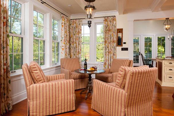 Farmhouse Family Room by Joann Fullen Interiors