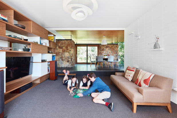 Midcentury Family Room By Steffen Welsch Architects
