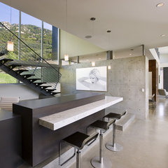 contemporary media room by Abramson Teiger Architects