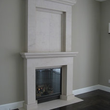 Contemporary Fireplace Mantels by Stone Creations