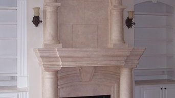 Limestone Fireplace Surrounds / Seville with arched overmantel