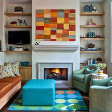 Contemporary Family Room by Buckingham Interiors + Design LLC