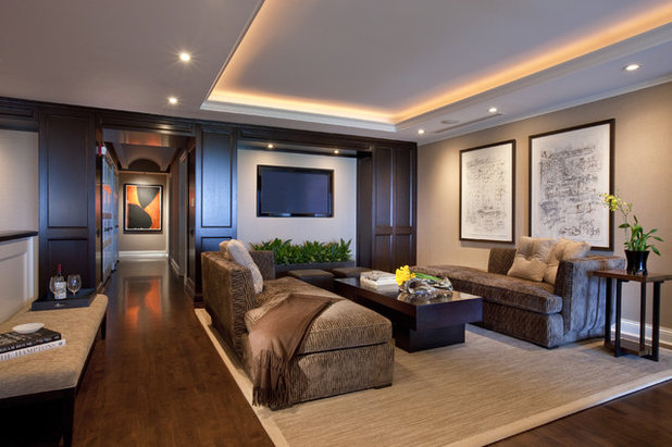 Contemporary Family Room by Michael Abrams Interiors