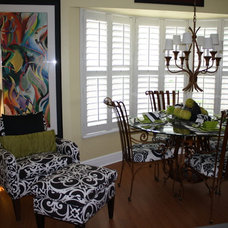 Eclectic Family Room by Linda Fisher