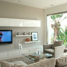 Modern Family Room by Sylvia Elizondo Interior Design