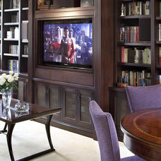 Traditional Family Room by Lindy Donnelly