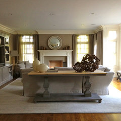 contemporary family room by Lisa Friedman Design, LLC