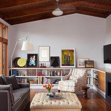 Midcentury Family Room by Lara Dutto, Laraarchitecture