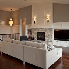 Contemporary Family Room by D.T. Carlson Co.