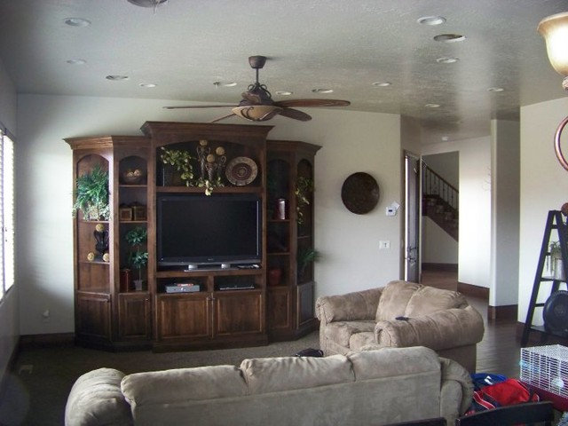 Traditional Family Room by Design Factory Custom Homes