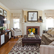Traditional Family Room by A. Peltier Interiors