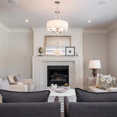 Contemporary Family Room by Maison Fine Homes & Interior Design