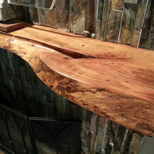 Live edger maple Mantel