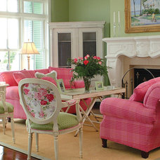 Traditional Family Room by Cottage Company Interiors