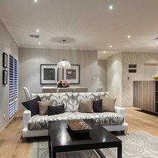 Contemporary Family Room by Moda Interiors