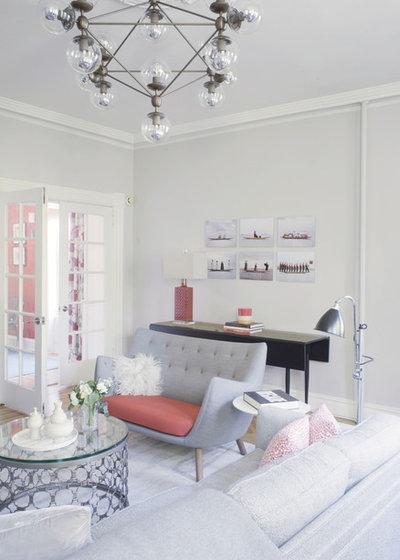 Family Room by Julia Mack Design, LLC