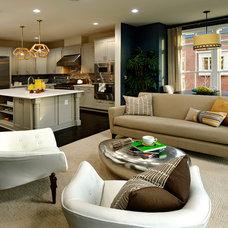 Contemporary Family Room by Bob Narod, Photographer, LLC