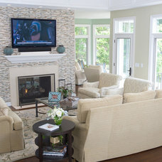 Traditional Family Room by House of L Interior Design