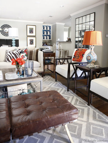 Eclectic Family Room by Kyle Knight