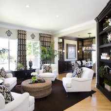 Traditional Family Room by Robeson Design
