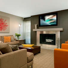 Contemporary Family Room by Directions In Design, Inc.